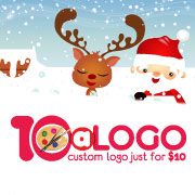 The Ten Dollar Christmas Logo Design