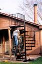 Wrought Iron Spiral Staircase   Houston TX