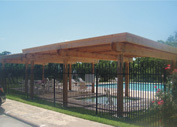 Shade structure in Houston