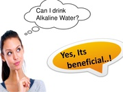 The Benefits from Drinking Alkaline Water