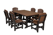 Patio Dining Table with 6 Dining Chairs