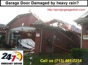 Need Garage Door?  Damage by Flooding in Dallas- Call us Now – $26.95