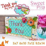 Thank You Mugrug - Machine Embroidery Design